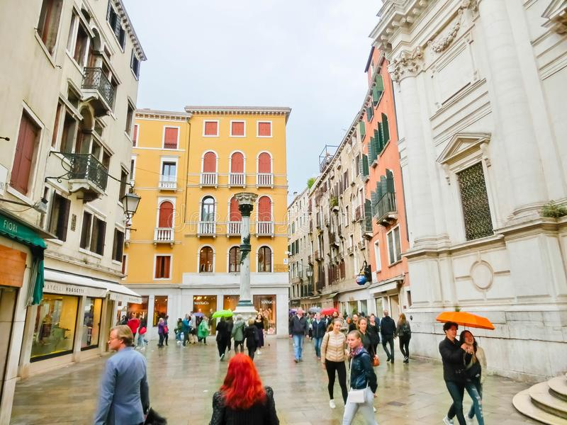 Venice, Italy - May 04, 2017: People on the street in Venice, Italy royalty free stock images