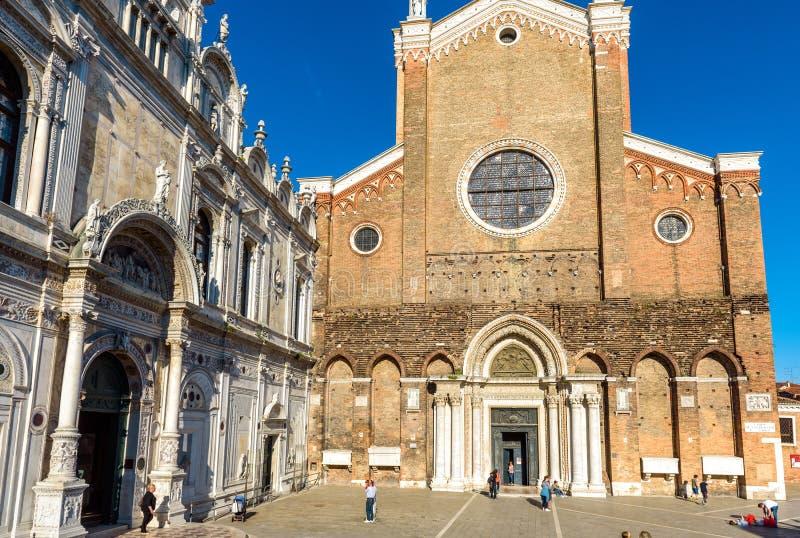 Scuola Grande di San Marco and Basilica San Giovanni e Paolo, Venice stock photo