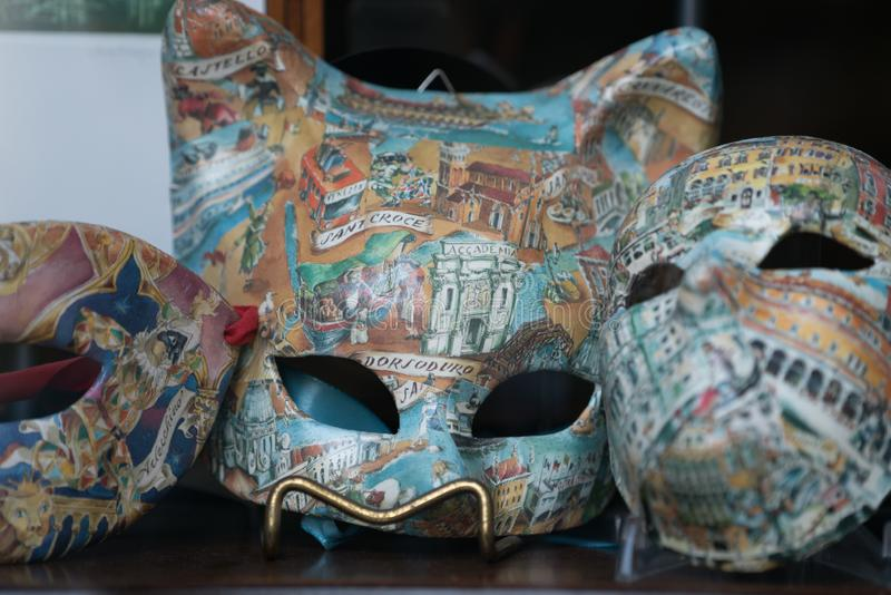 Masks product in Venice, Italy stock images
