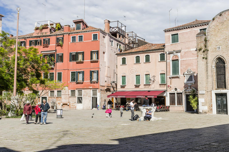 Venice in Italy. One of the many squares in Venice , Italy. Europe royalty free stock images