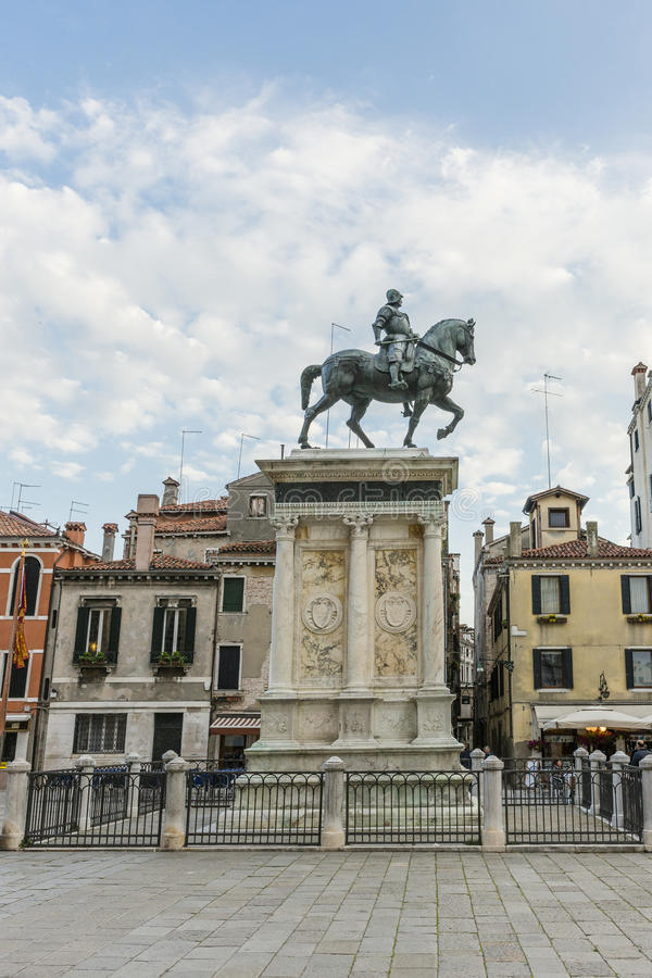 Venice in Italy. One of the many squares with monument and tourists in Venice , Italy. Europe stock images