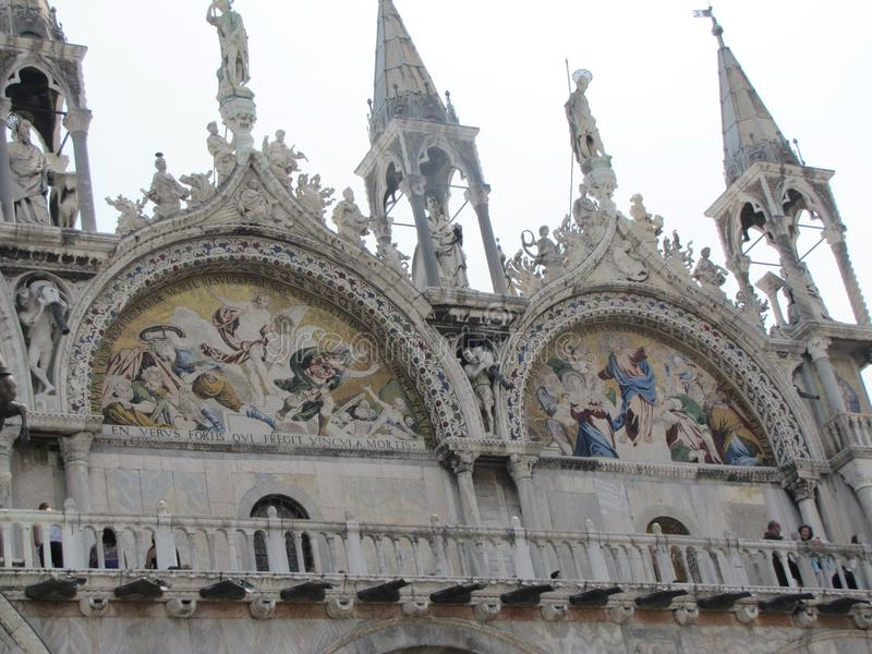 Italian architectural styles on display in Venice royalty free stock photos