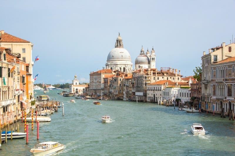 Venice, Italy - September 07, 2017: Grand Canal Canal Grande with Basilica Santa Maria della Salute stock images
