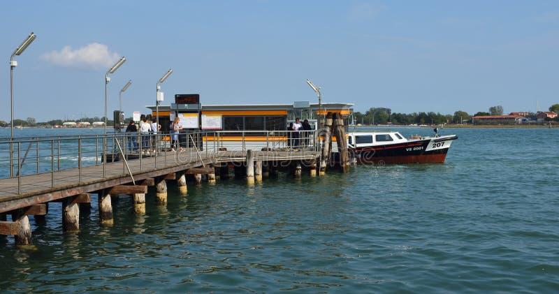 San Pietro di Castello Vaporetto Stop in the Venice Lagoon. royalty free stock photography