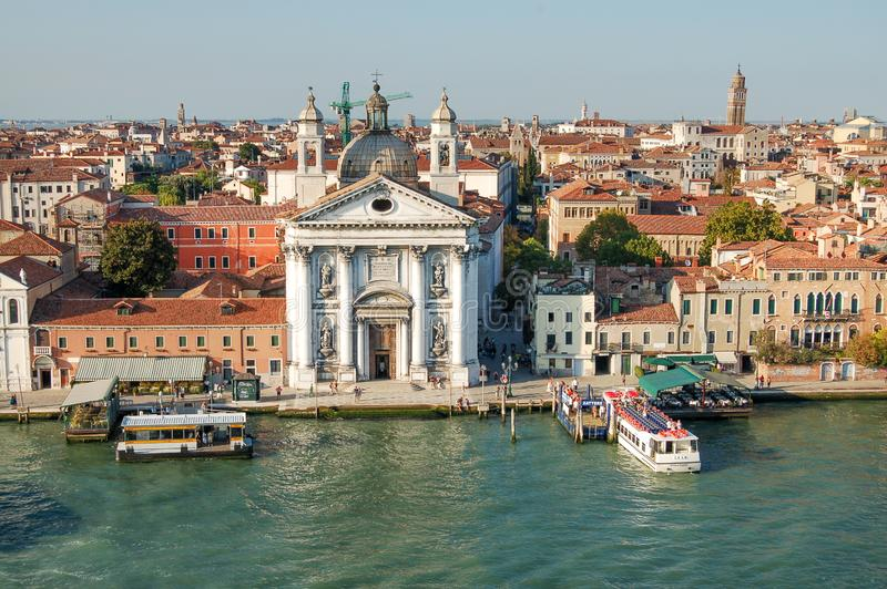St Mary of the Rosary , ancient dominican church in Venice, Italy royalty free stock photos