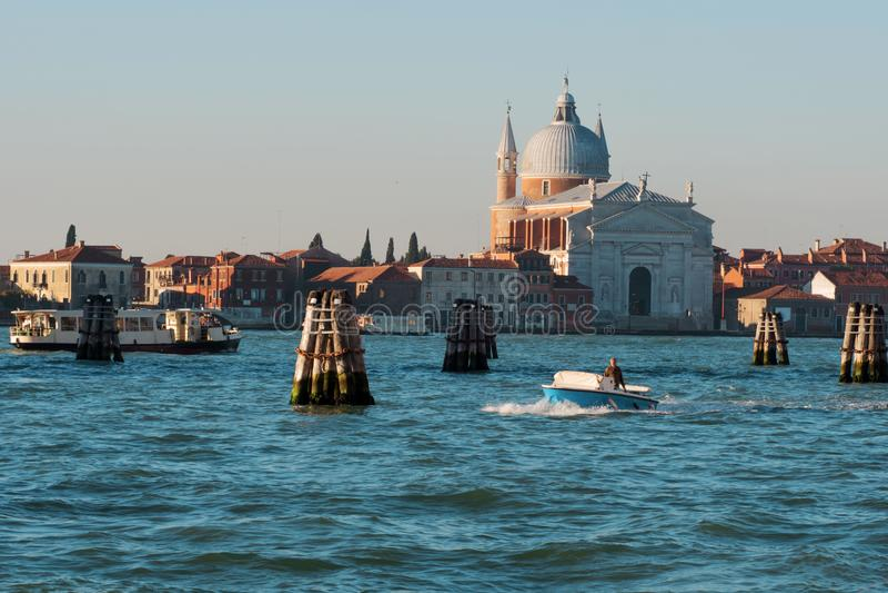 Venice Italy, views of the Giudecca royalty free stock photos