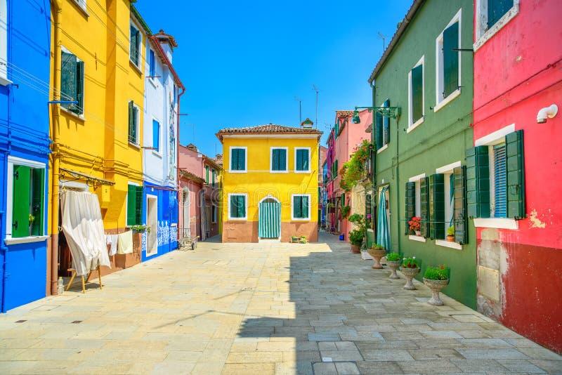venice landmark burano island street colorful houses. Black Bedroom Furniture Sets. Home Design Ideas