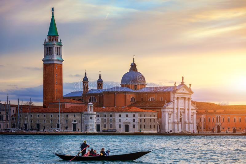 Venice looking over to San Giorgio Maggiore from near St Mark's royalty free stock photography