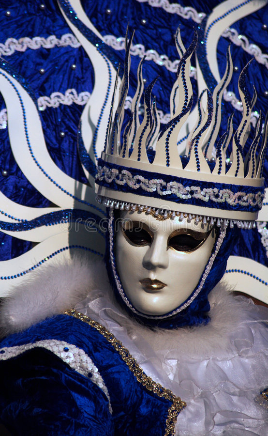 Venice: masked and crowned stock photos