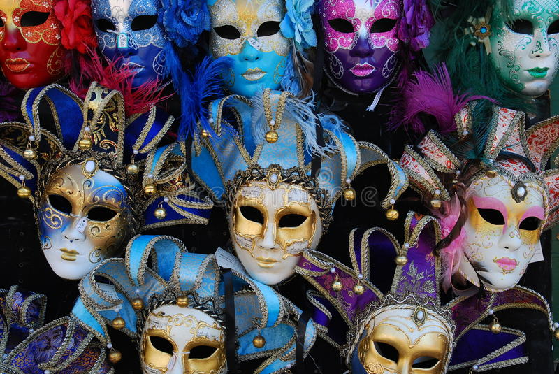 Venice Masks. A Venice Masks pattern, greate as background royalty free stock images