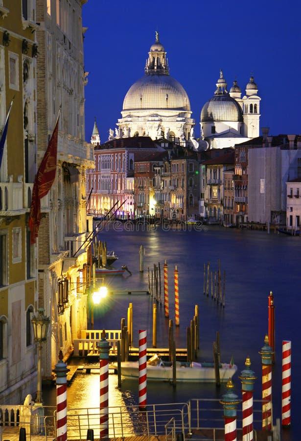 Venice at night royalty free stock photo