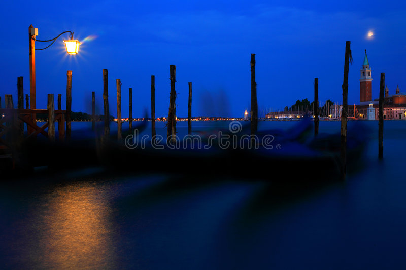 Venice by night royalty free stock images
