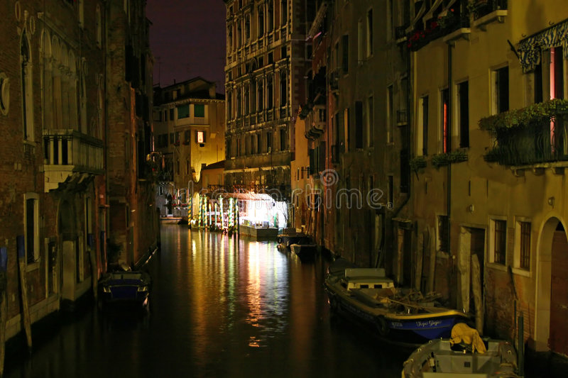 Venice night royalty free stock images