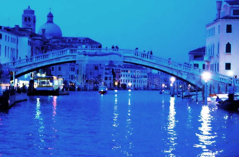 Venice at Night Italy - Venezia italia - Creative Commons by gnuckx stock image