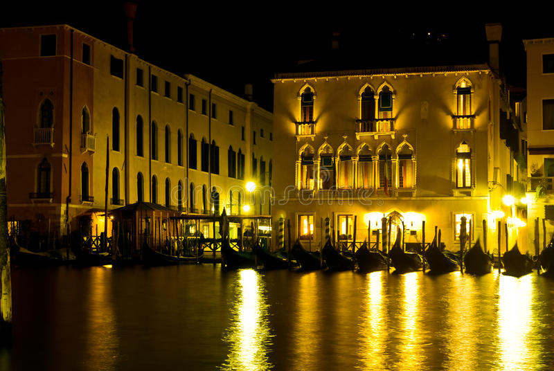 Venice, night scene royalty free stock image