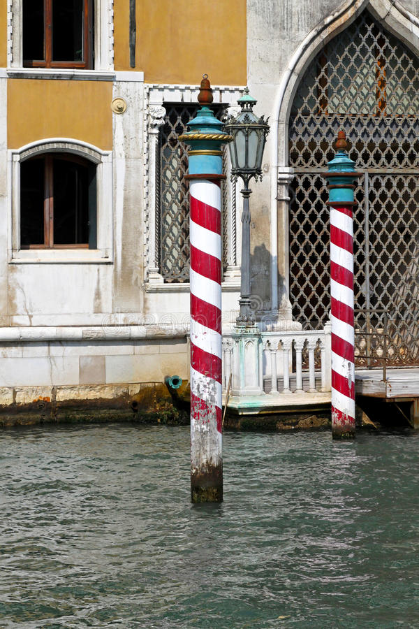 Venice poles royalty free stock images