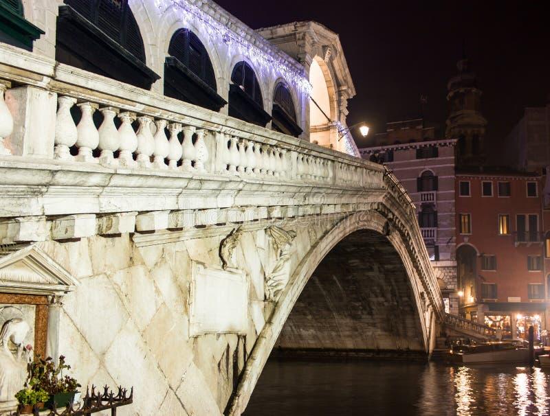 Download Venice, Rialto Bridge Night Stock Illustration - Illustration of bridges, antique: 28443937