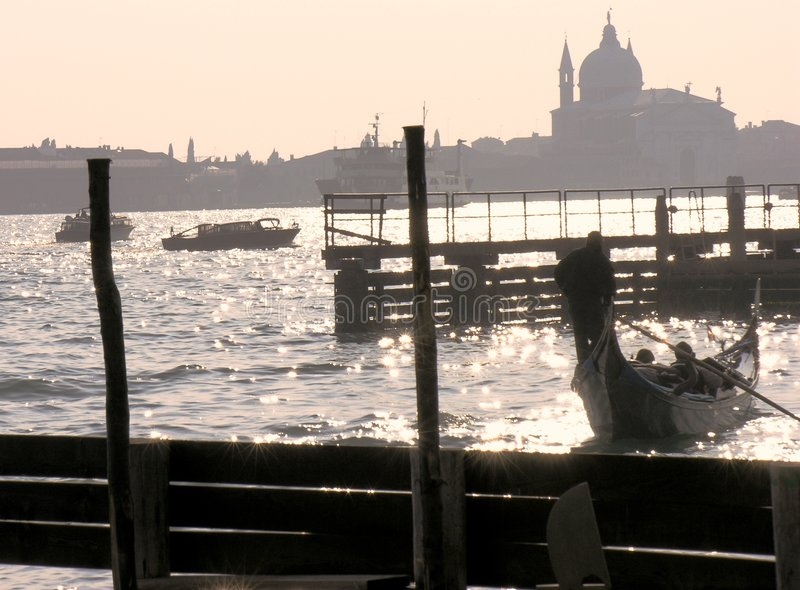 Download Venice Romantic Scene stock image. Image of punting, boats - 5966233