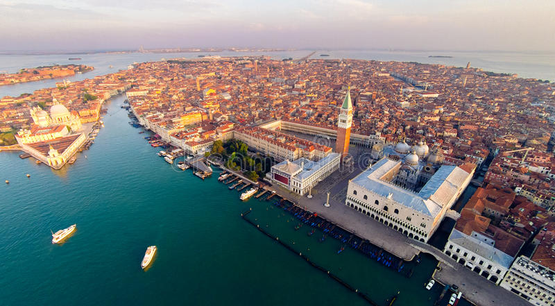 Venice With Saint Mark`s Square royalty free stock image