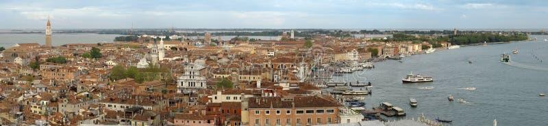 Venice from San Merco tower stock photos