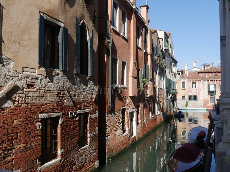 Venice - Santa Croce and San Polo district. Urban trekking through Calli, along channels and crossing bridges in Santa Croce and San Polo district in Venice royalty free stock photos