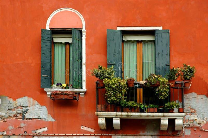 Venice Serii Okno Obrazy Royalty Free