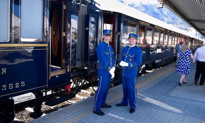 The Venice Simplon-Orient-Express - Conductors royalty free stock images