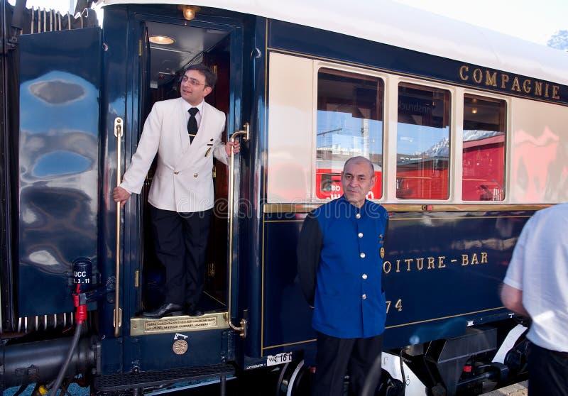 The Venice Simplon-Orient-Express - Conductors stock images