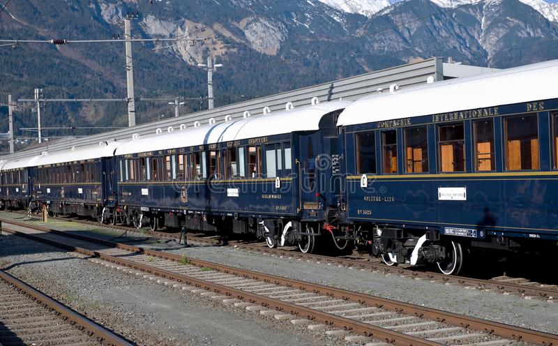 The Venice Simplon-Orient-Express in Innsbruck royalty free stock image