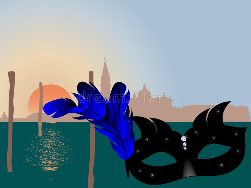 Download Venice skyline stock vector. Image of blue, graphic, celebrate - 21483716