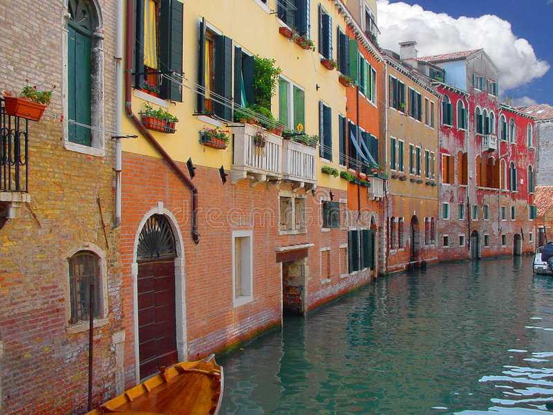 Download Venice Street. stock photo. Image of water, exterior, architecture - 608466