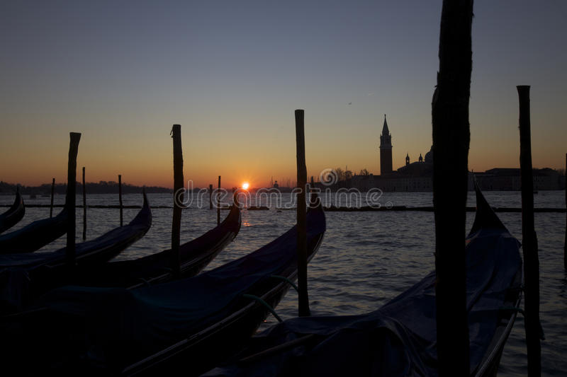 Venice sunrise royalty free stock photos