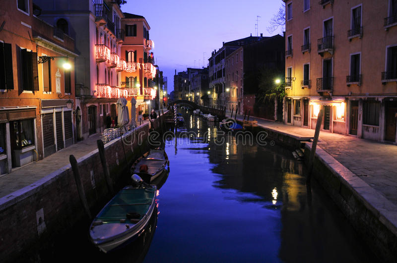 Venice at sunset royalty free stock images