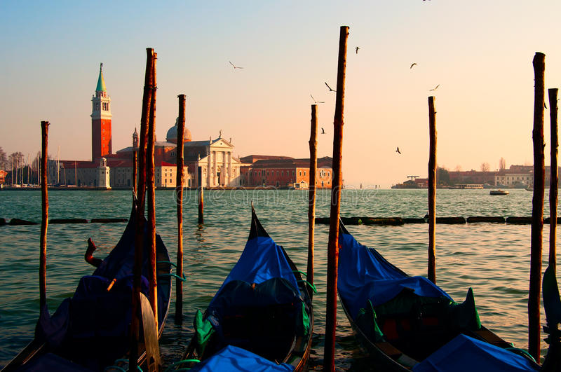 Venice sunset royalty free stock images