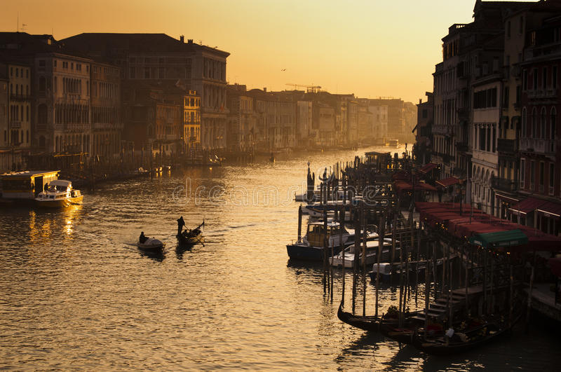 Download Venice sunset editorial stock image. Image of canal, transports - 23931584