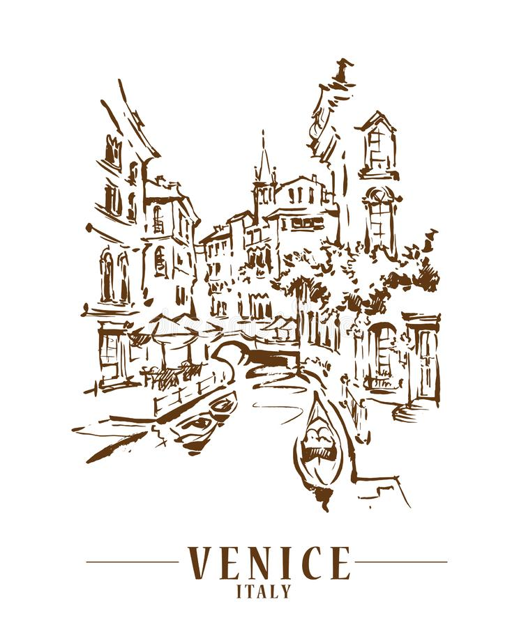Free Venice Vector Illustraton Stock Photos - 149501843