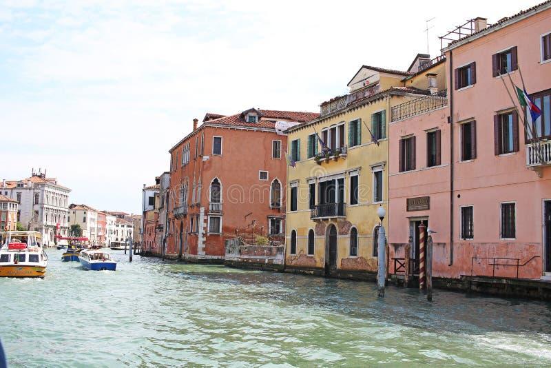 Venice Venezia Italy 2019 march city view from ship. Renaissance Buildings in sea royalty free stock photos