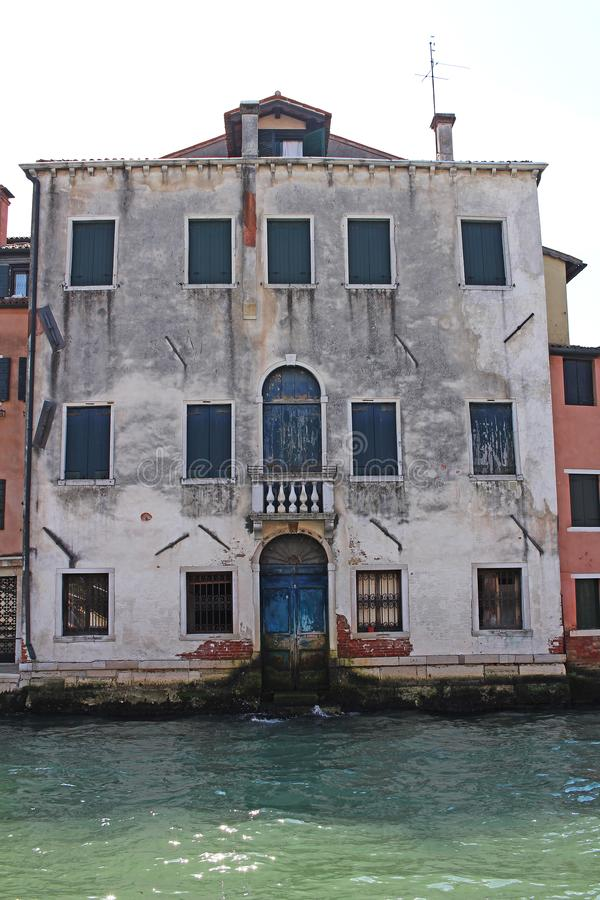 Venice Venezia Italy 2019 march city view from ship. Renaissance Buildings in sea stock photo
