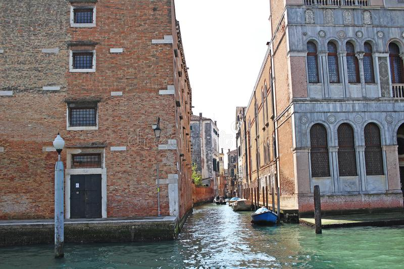 Venice Venezia Italy 2019 march city view from ship. Renaissance Buildings in sea royalty free stock photography