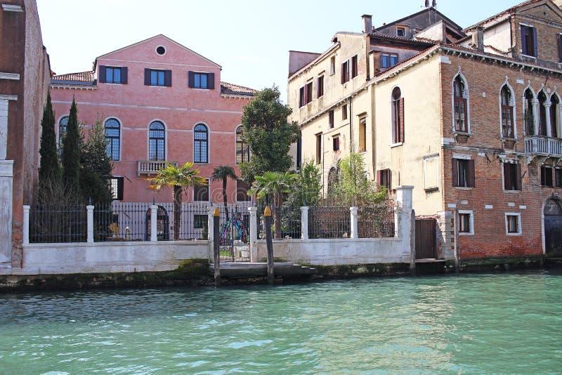 Venice Venezia Italy 2019 march city view from ship. Renaissance Buildings in sea stock photos