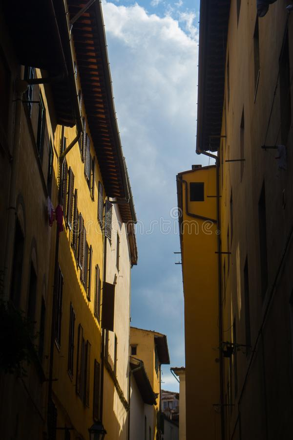 Venice yellow houses royalty free stock image