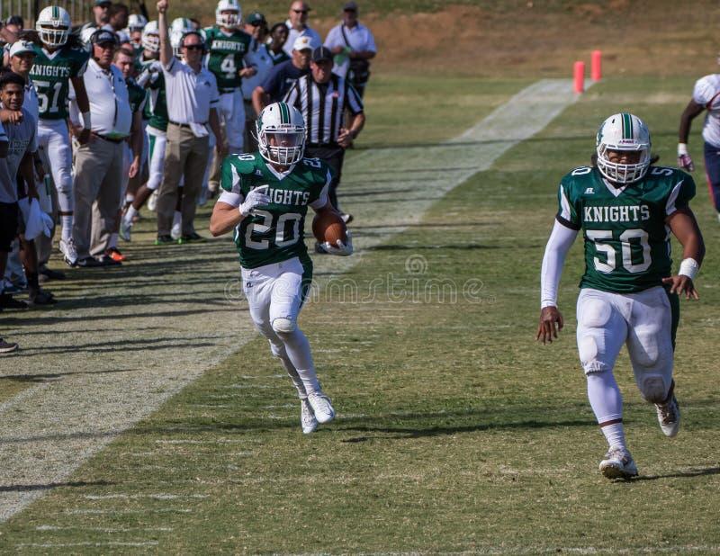 Venir de touchdown photographie stock libre de droits