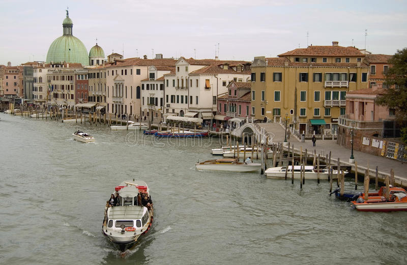 Venise canal. A Venetian canal and historic buildings, Venice, Italy royalty free stock photo