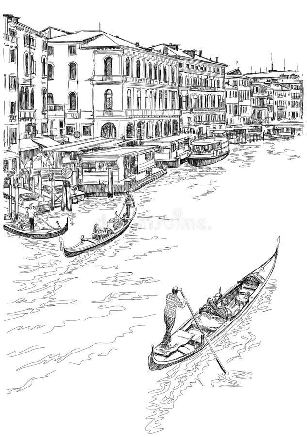 Venise - canal grand image libre de droits
