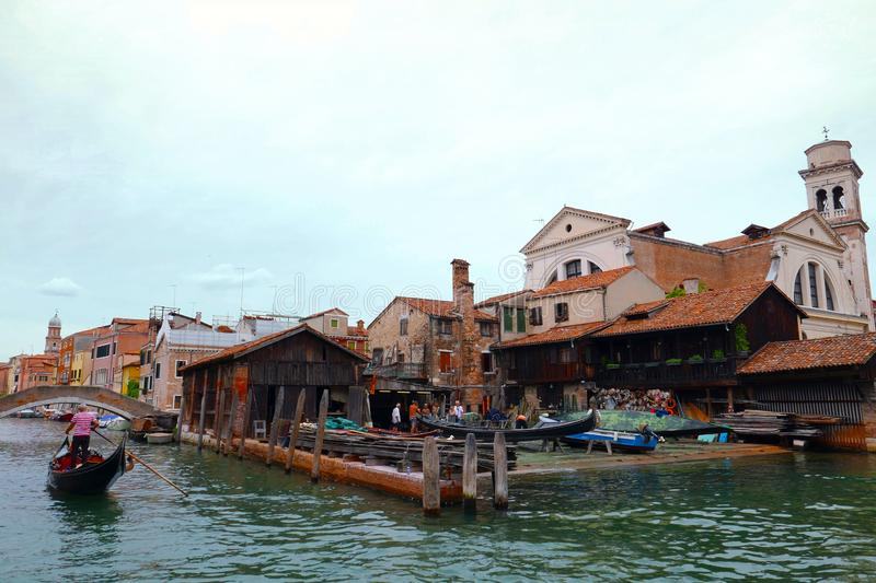 Venise canal, Italy royalty free stock images