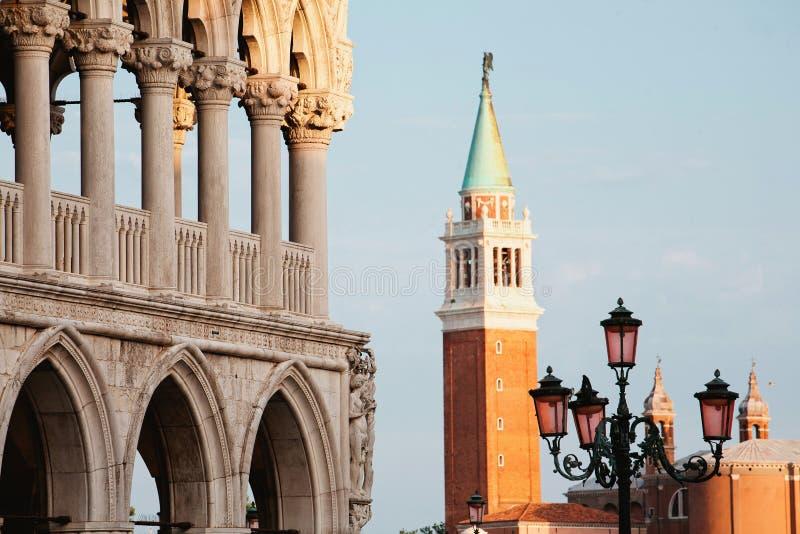 Venise de San Marco Square dans la fin de l'après-midi images libres de droits