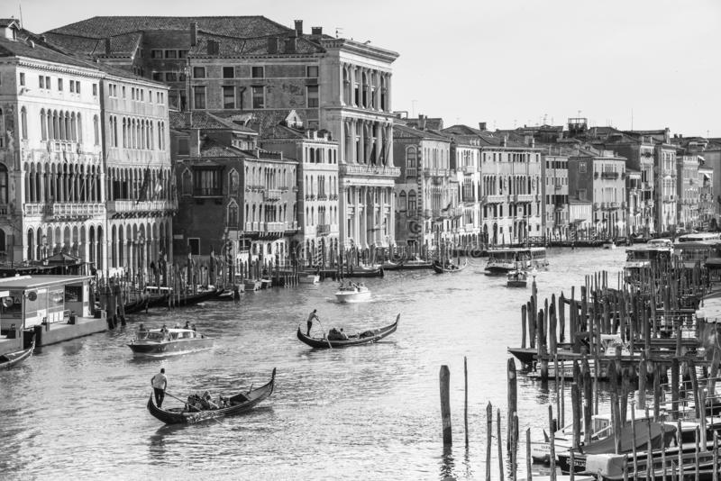 Venise, Italie - 10 juin 2017 : gondoles sur Grand Canal à Venise, Italie, l'Europe photo stock