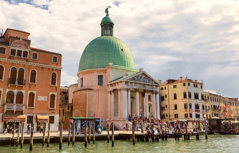 VENISE, ITALIE - 19 SEPTEMBRE 2015 : Vue de Grand Canal et photos libres de droits