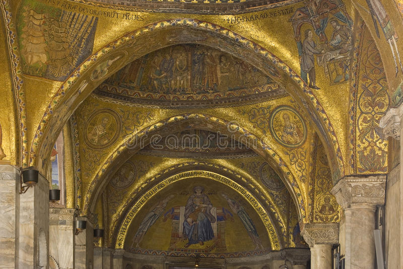 Venise - la rue marque la basilique photographie stock