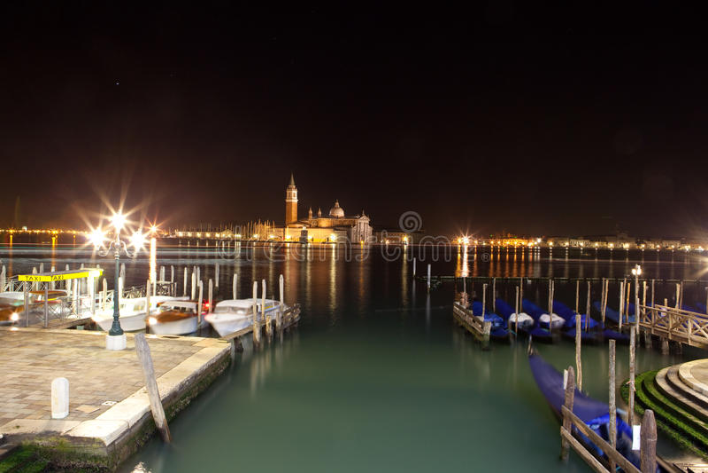 Venise par nuit photos stock